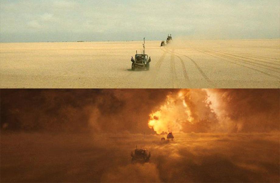 這些《瘋狂麥斯》的特效前和特效後的對比照真的太「瘋狂」了啦!