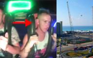 這個男生嘗試全世界最恐怖的「彈弓」遊樂設施,結果被嚇到失去意識幾次!