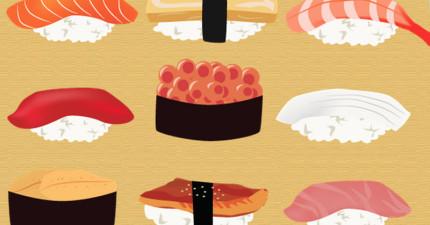 選出一個最喜歡吃的壽司,你的個性就會立刻原形畢露!