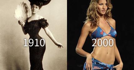 100年來各時代女性「完美身材」的變化。看完不禁心有戚戚「當女人真辛苦...」