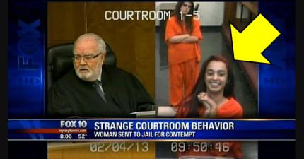 18歲女孩在法庭上一直撒嬌和開玩笑,結果法官的「兇狠判決」完全讓她閉上了嘴...!