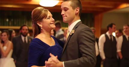這對母子在婚禮中跳的舞看似很普通,直到音樂一換...現場來賓全都一起扭動尖叫!