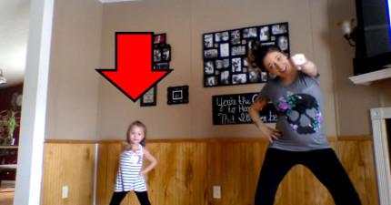 這段超可愛的「母女共舞」影片,不到一週就讓2400萬人瞬間愛上了這位6歲小女孩!