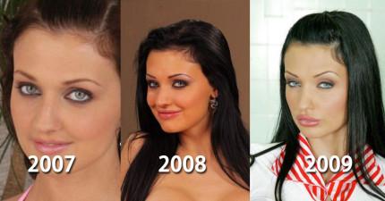 看看這名可愛的女生8年來每年慢慢進化成一個真的成人片女星。