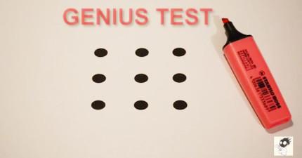 如果你能在3秒內用4條線串連這9個點,就代表你的智力超乎一般人了!