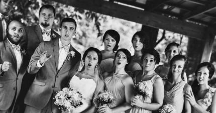 超專業攝影師在拍攝婚禮照時不小心跌倒還不忘按下快門,結果拍到了最史詩般的照片!