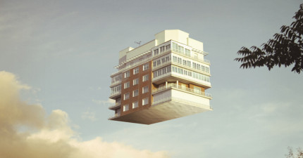 未來當恐怖強震來襲時,你就用這個「新科技」讓自己的房子漂浮起來吧!