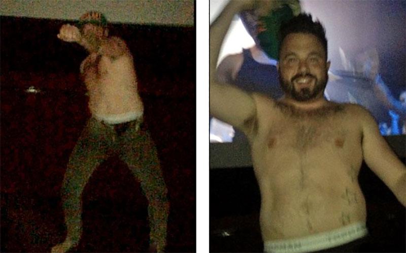 觀眾在電影院裡看《舞力麥克XXL》時,一名男子突然衝出到螢幕前面然後開始...脫衣服?!