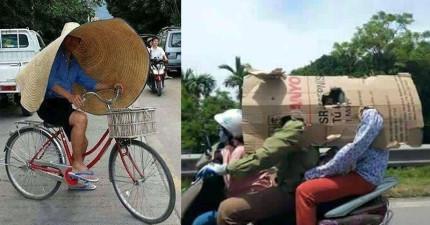 18張照片證明越南人都在嘲笑我們「防曬方法遜爆了」!