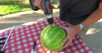 別老土了,這樣喝西瓜汁才過癮!