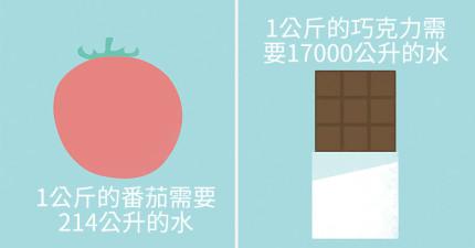 7張簡單圖表告訴你:「你吃的食物總共用了多少水製作?」