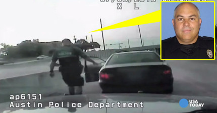 警察因為女駕駛講手機所以把她攔下來,結果真相真的驚險太多了!