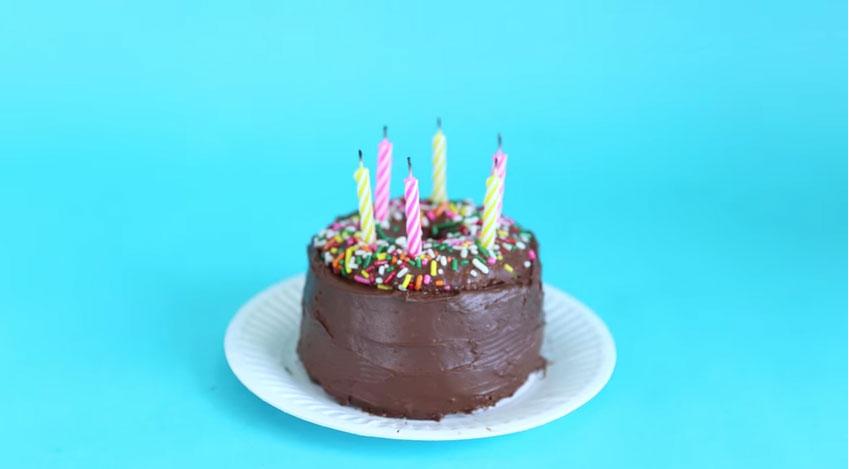 很常忘記買生日蛋糕嗎?只要1分鐘就可以臨時做出一個喔!