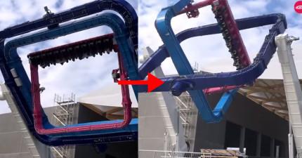 這個不停翻滾的「時空穿梭遊樂設施」會讓你在跳躍到另一個空間前就吐得滿身都是!