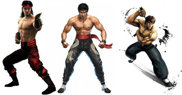 Lui Kang from Mortal Kombat, Law from Tekken, and Fei Long from Street Fighter are all inspired by Bruce Lee.