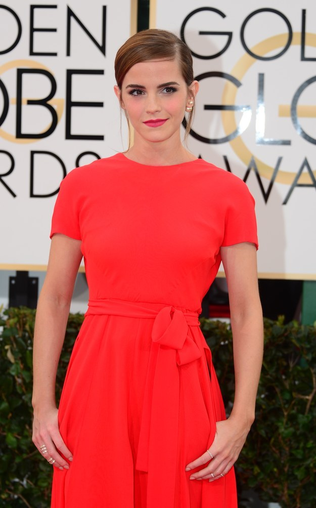 Then there was this time she stunned in red... and had POCKETS.