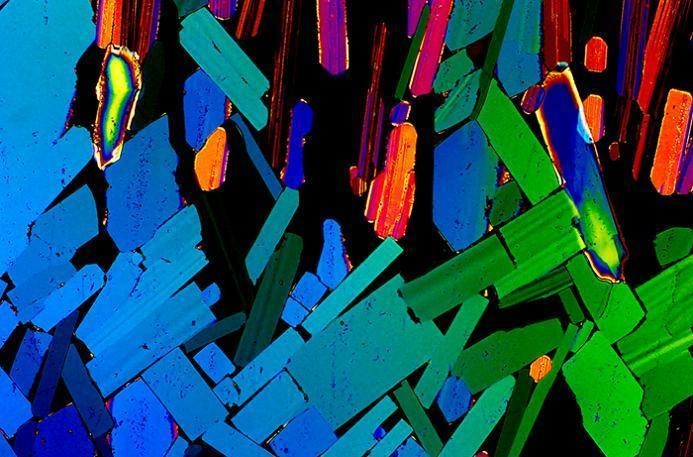 This is tequila, shown under a high-powered microscope.