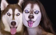 因為她太愛她的哈士奇狗狗了,因此她就直接變成了他!