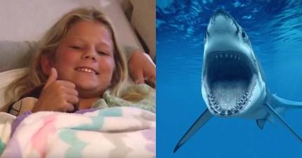 10歲小女孩被鯊魚咬一口後,居然再次衝回海裡!回來時看到為什麼時大人都慚愧到不行!