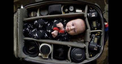 為什麼現在全世界很多的攝影師都開始把寶寶放進相機包裡?