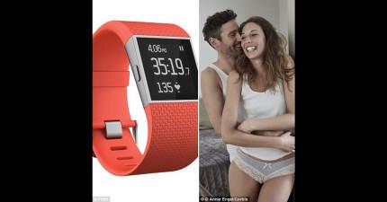 這個女生在愛愛時戴著智慧型手環記錄心率圖,一看圖型就像是親眼看到過程一樣!