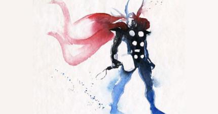 這些用水彩畫出的超級英雄在網路上超紅!看幾張後你就會知道為什麼了。