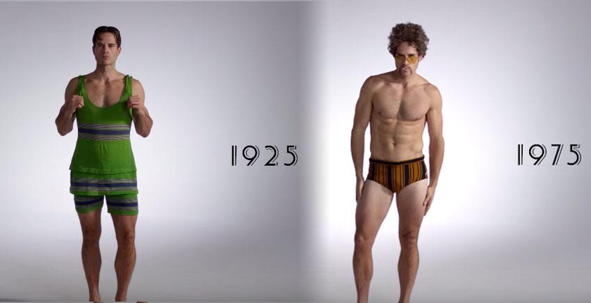 100年的男人泳裝進化影片。1935年性感到你可能很難HOLD住啊!