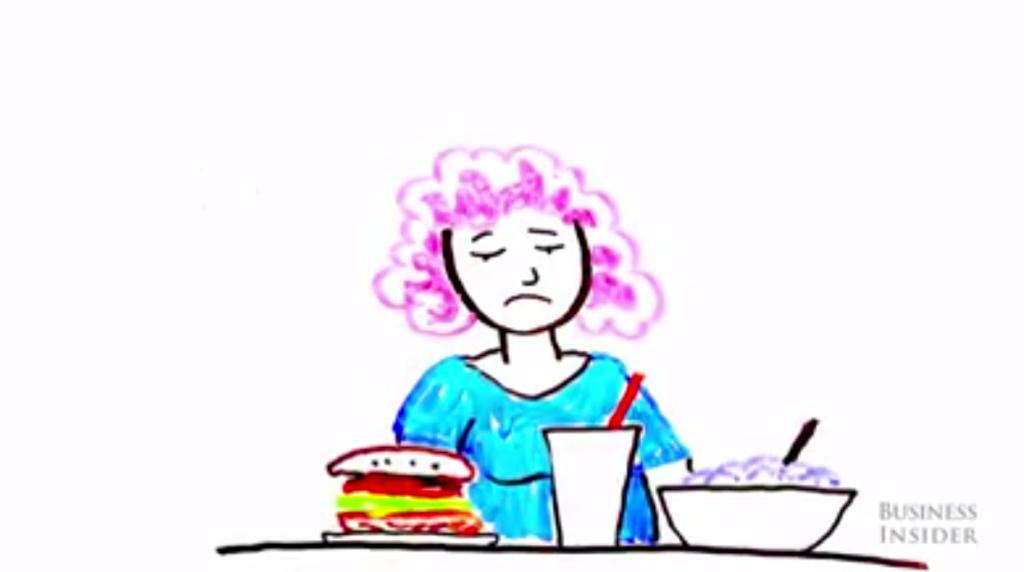 看完這段影片,減肥中的你會決定還是乖乖吃飯好了!