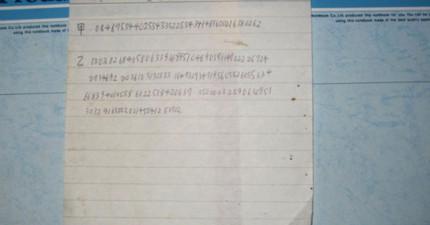 日本網友發現一封過世爺爺留下的「詭異亂碼信」,解開後的謎底讓網友們都傻眼了...