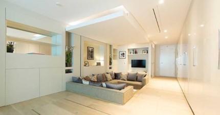 這個小房間已經很漂亮了,但只要按下秘密「機關」你才會知道其實是個大空間豪宅!