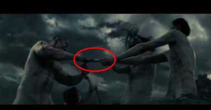 最新釋出的《真人版進擊的巨人》預告片裡面多加了很多「心臟太弱的人不宜觀看的猛爆畫面」。