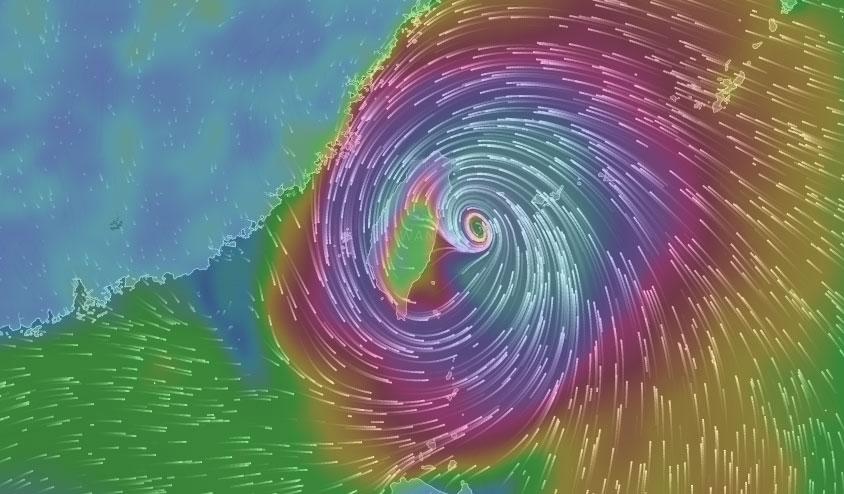 颱風真正位置