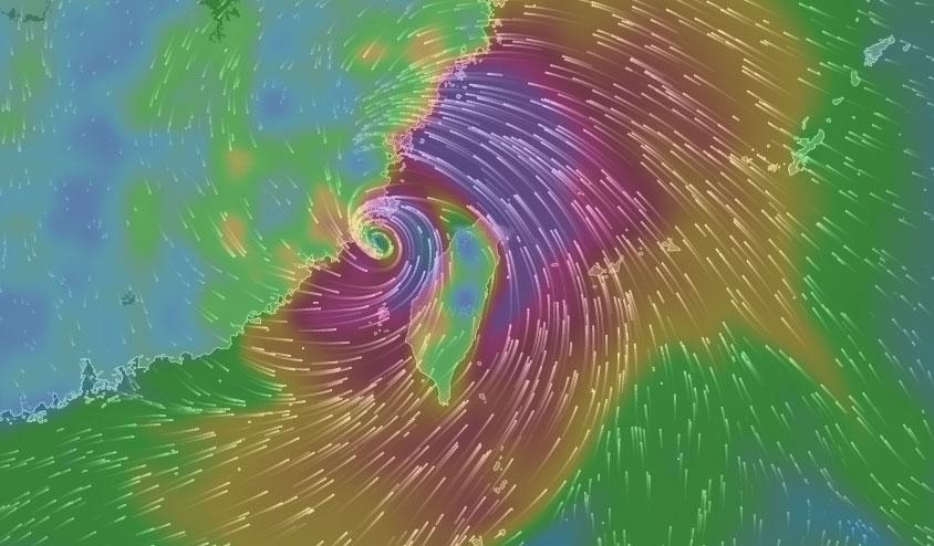 颱風真正位置7pm
