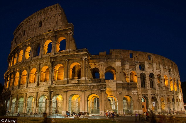 The real Colosseum in Rome, pictured, was the largest amphitheater ever built. It is now a museum site