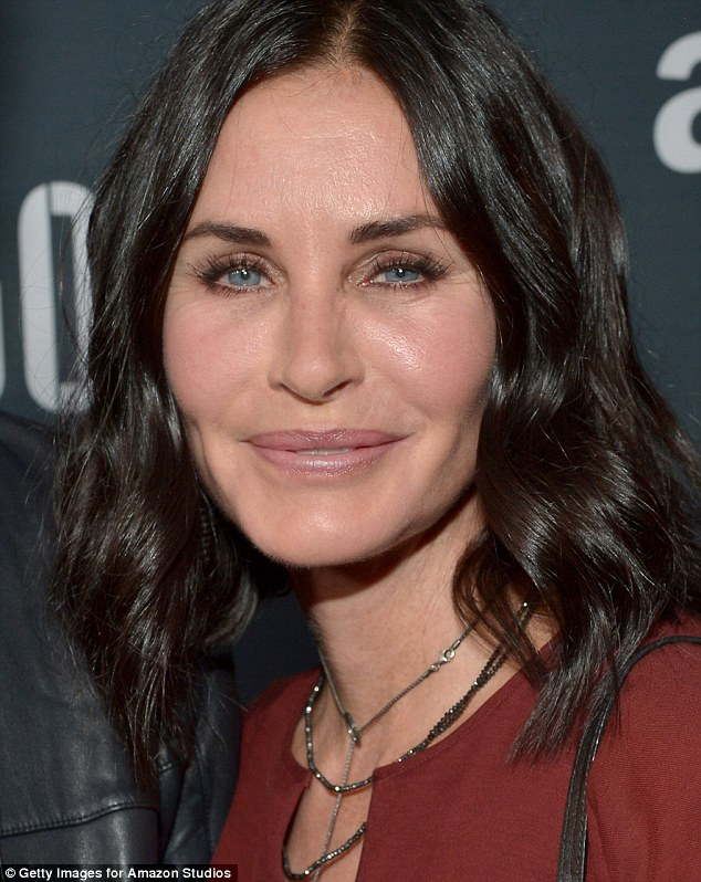 Something has changed: When Courteney Cox stepped out to the Amazon premiere screening for original drama series Hand Of God at the Ace Hotel in Los Angeles on Wednesday, the Friends vet looked almost unrecognizable