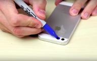 在他用簽字筆塗滿手機的閃光燈後,結果真的超奇特但你可能會承受不了。
