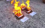 這名男子點燃一個iPhone 6和Samsung S5,結果哪個比較強呢?