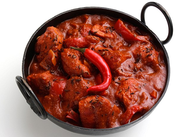 BH9JED Chicken vindaloo Indian hot curry