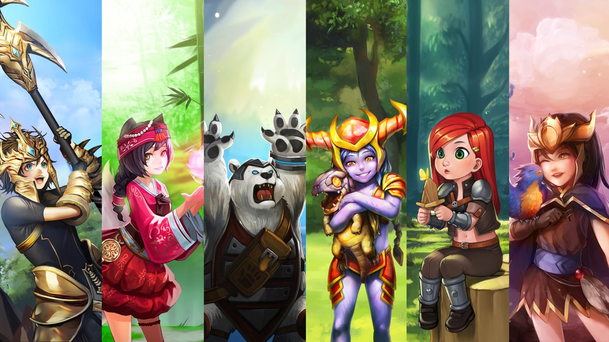 6個英雄聯盟英雄和他們小時候vs.長大的比對圖。