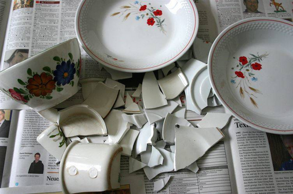 The Danish save broken dishes throughout the year and then throw the shards on new years at the homes of friends. It is thought to bring luck to their friendship.