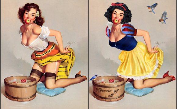 當10個迪士尼公主「轉職」變成了畫報女郎,就會性感到很多人會受不了!