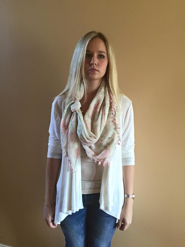 When the 16-year-old tried to cover up with a scarf, she got pushback from her high school administration, who told her she wasn't tying her scarf the proper way. Stephanie was sent home.