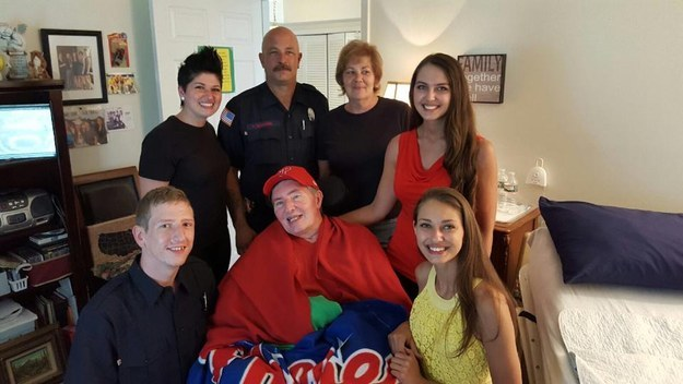 The initial fundraising goal was $17,000, but with the firefighters' help, the campaign raised over $60,000. The two firefighters even went to Woodward's house to meet her family.