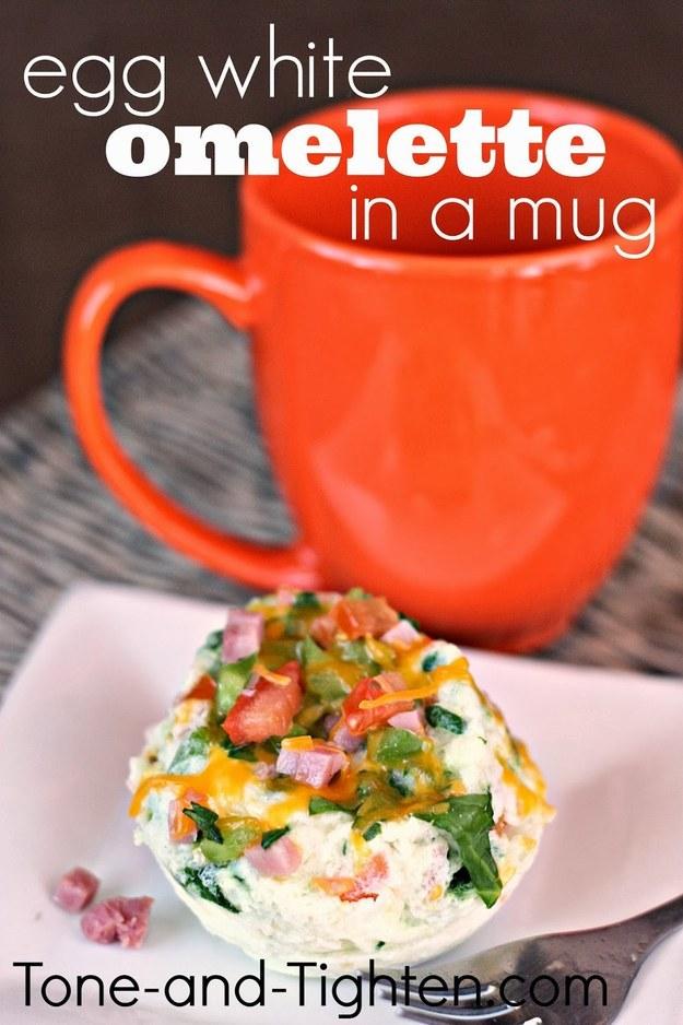Egg White Omelette in a Mug