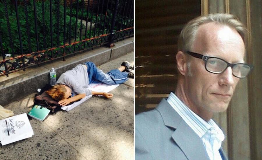 在警方在檢查紐約的街頭流浪漢時,赫然發現曾經「華爾街之狼」的昔日富豪友人也在其中!