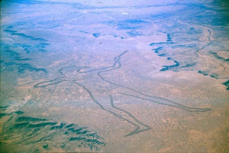 The second largest geoglyph is in Australia. The Marree Man, or Stuart's Giant was discovered in 1998.
