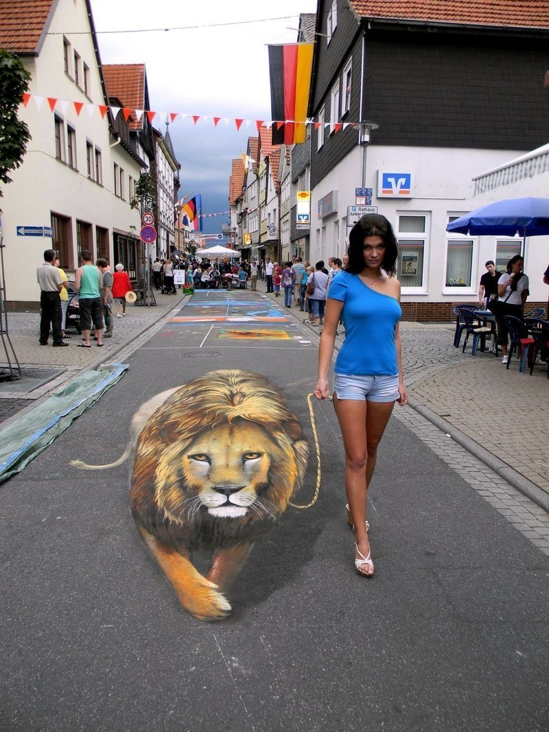 The Russian artist loves to see people interact with his creations.