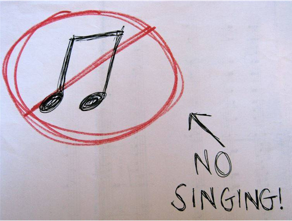In the Netherlands don't sing at the dinner table. They believe that you are singing to the devil himself!