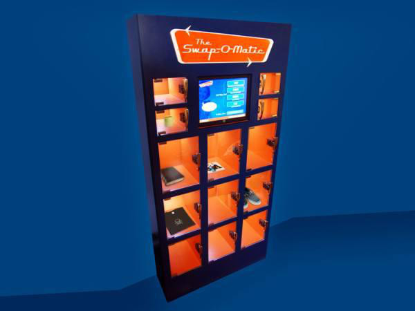 The Swap-O-Matic in NYC allows you to deposit unwanted items for 'points' which you can use to get other items in the machine.