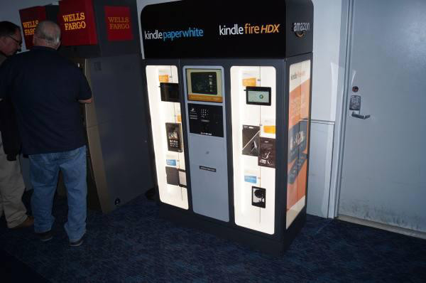 Kindles, Las Vegas Amazon is genius for putting these in airports in front of bored travelers.